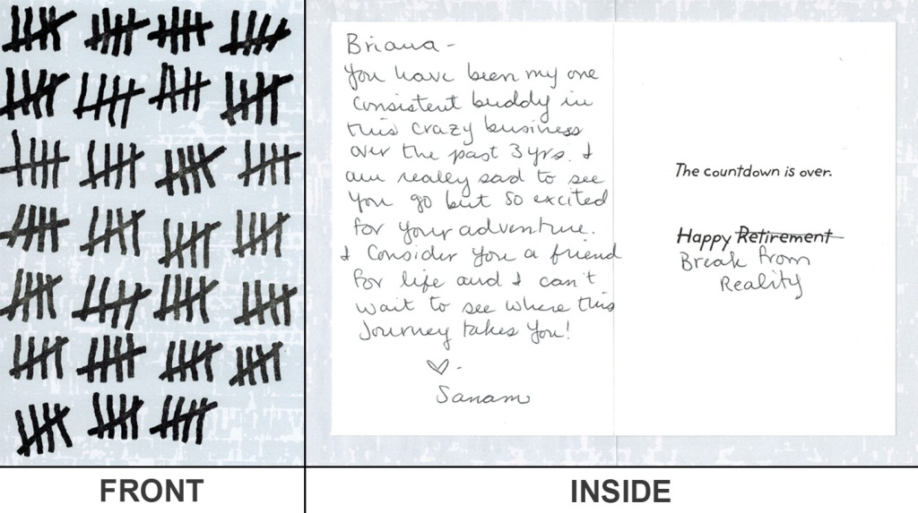 Card from Sanam