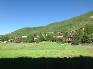 The view from our hotel room in Vail, CO