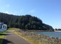 Walking path along the ocean