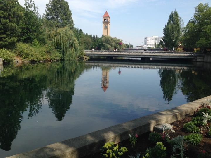 The Spokane River at Riverfront Park
