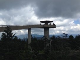 The observation tower at Clingman's Dome