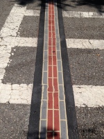 Brick Line showing the way for the Freedom Trail