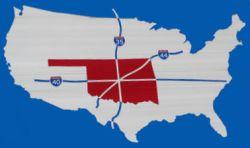 Map of America's Corner in Oklahoma City, OK